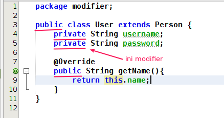 Modifier in java