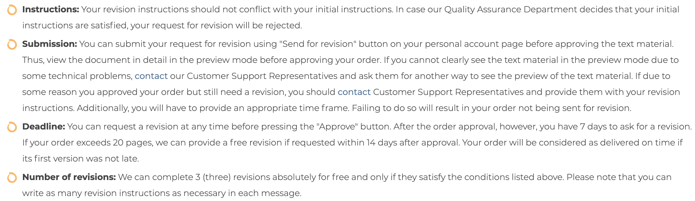 myadmissionsessay.com revision policy