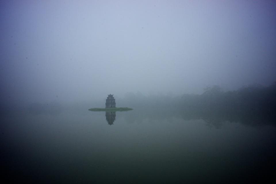 Turtle Tower in Hoan Kiem Lake