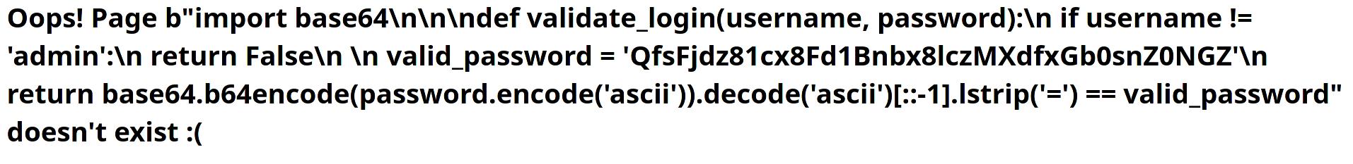 Leaked base64 encoded flag