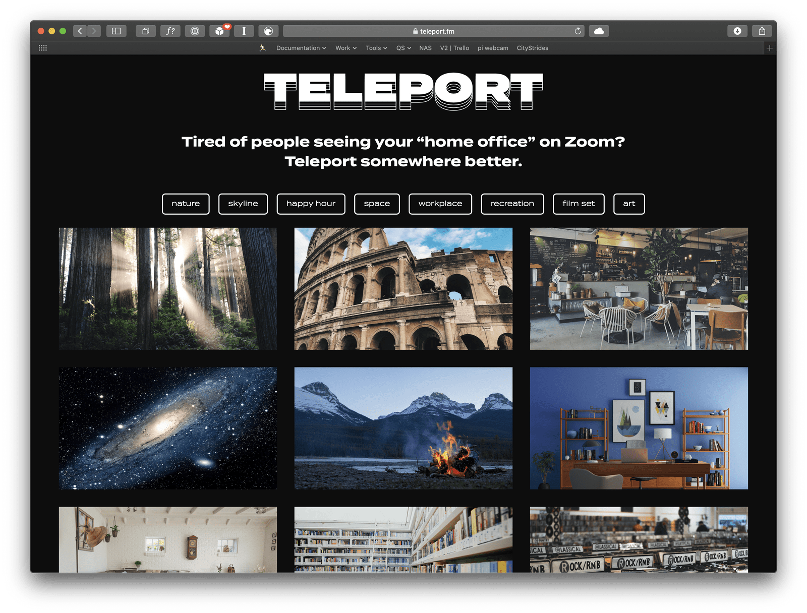 Teleport.fm screenshot