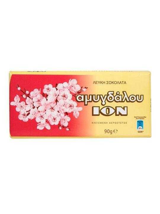 Λευκή σοκολάτα αμυγδάλου - 90γρ