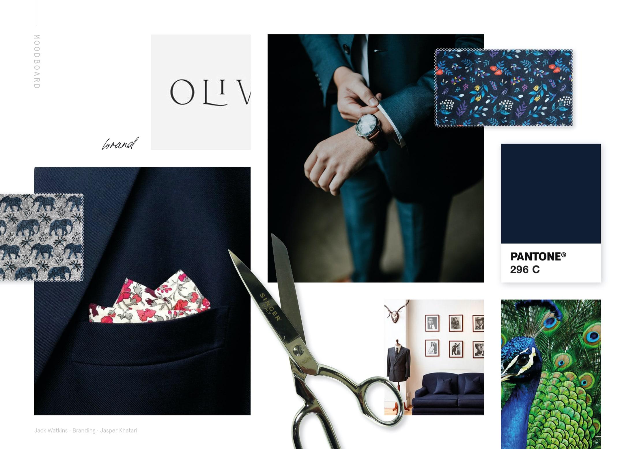 Moodboard curation for Savile Row tailor, Jasper Khatari