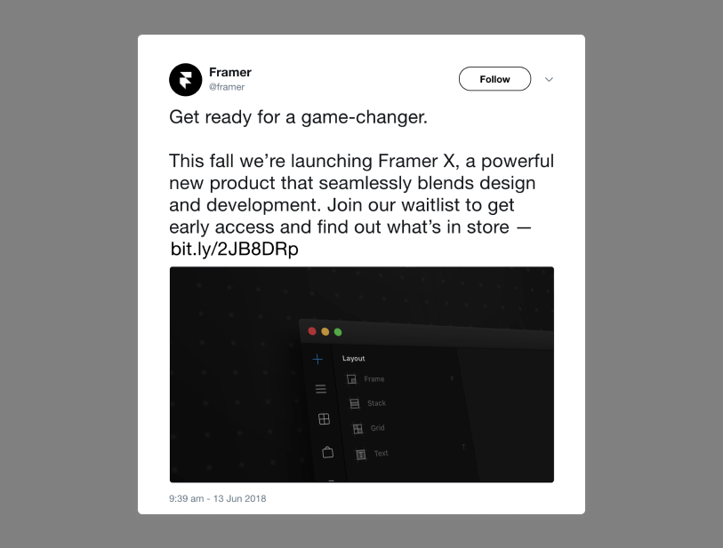 Framer Tweet