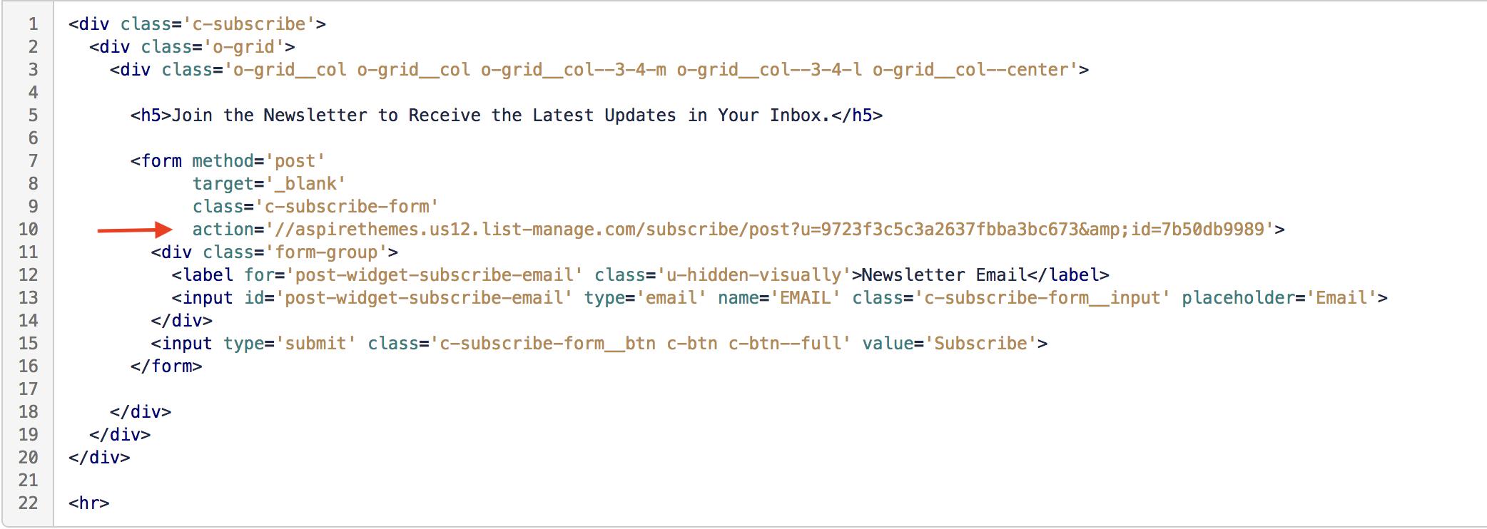 mailchimp-code