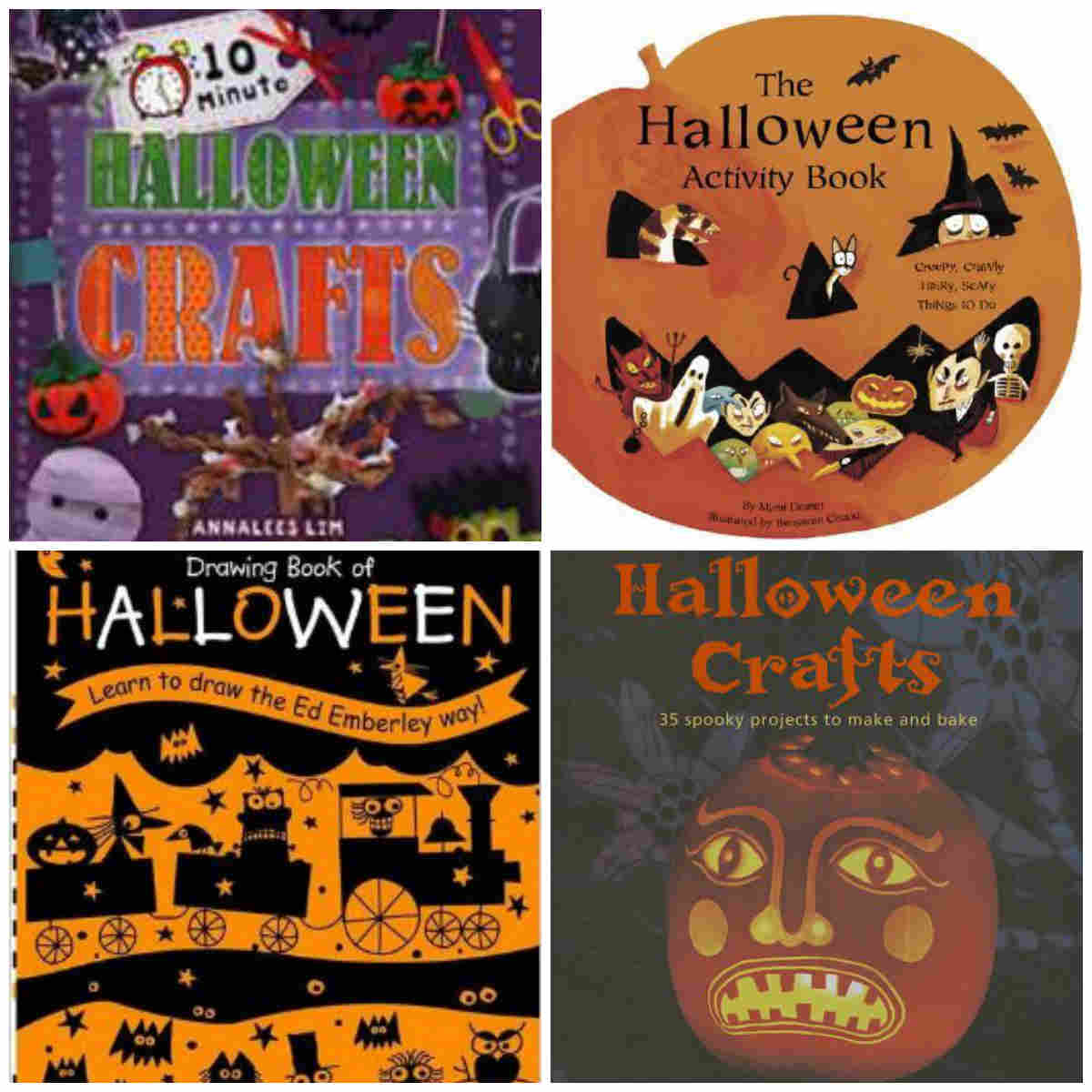 10 minute Halloween crafts, The Halloween activity book, Drawing book of Halloween, Halloween crafts