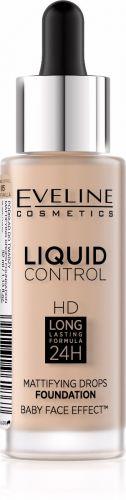 EVELINE LIQUID CONTROL folyékony alapozó pipettával vanilia bézs 32ML
