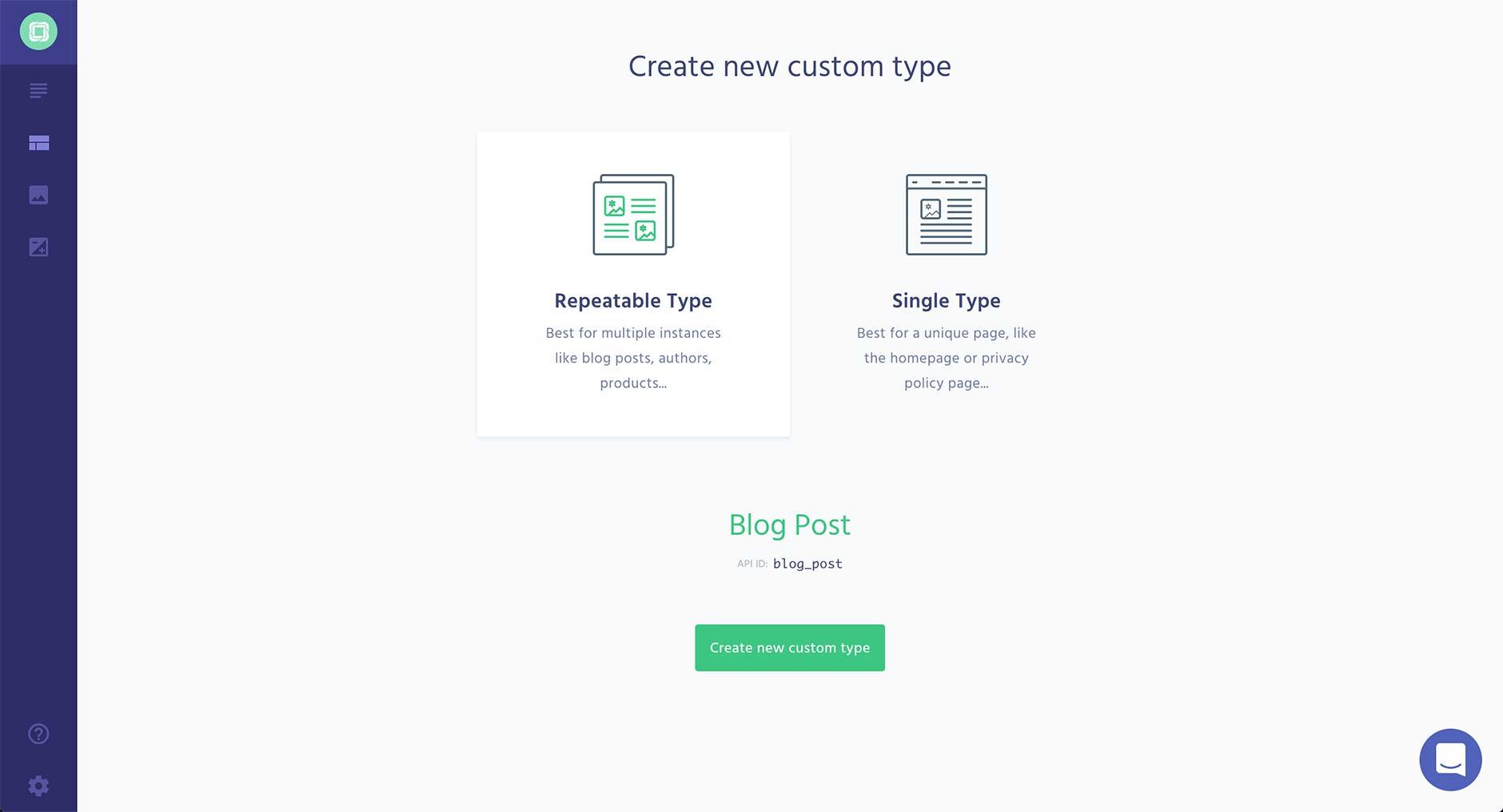 Crear un nuevo custom type
