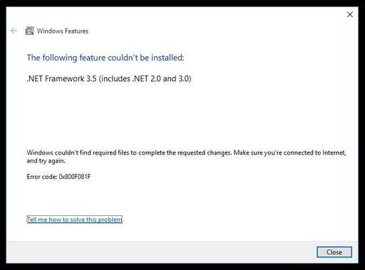 Cara Install .Net Framework 3.5 Offline