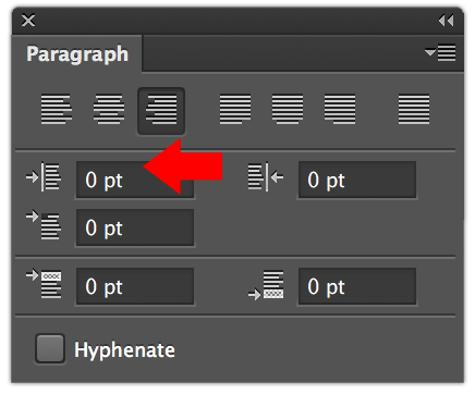 The paragraph panel in Photoshop