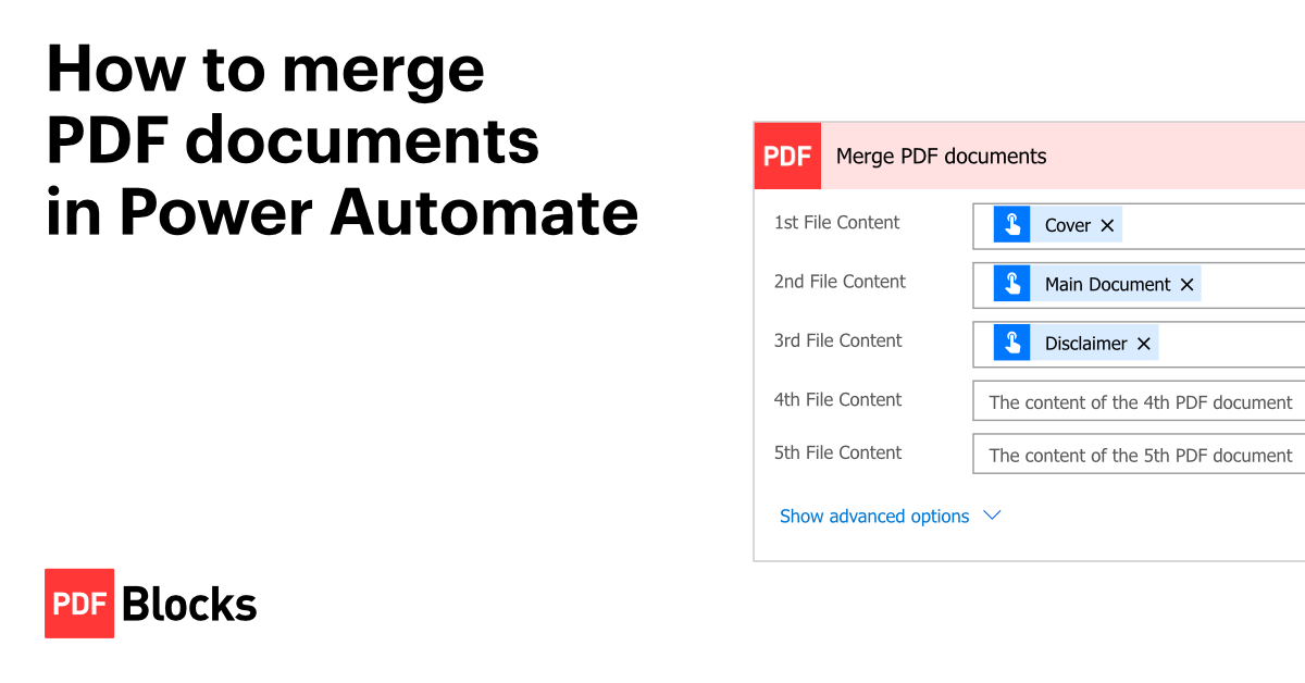 How to merge PDF documents in Power Automate