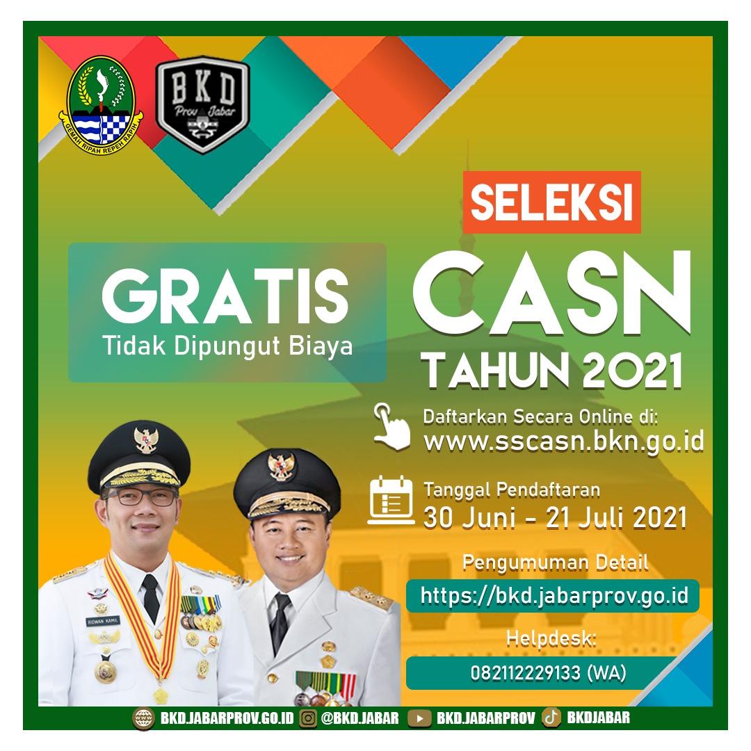 Daftar Formasi CPNS 2021 Pemprov Jawa Barat