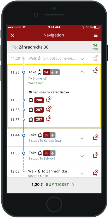 Cestovný poriadok autobusu
