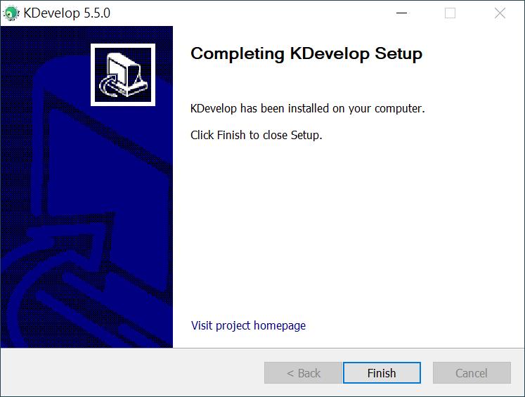 KDevelop 安裝完成