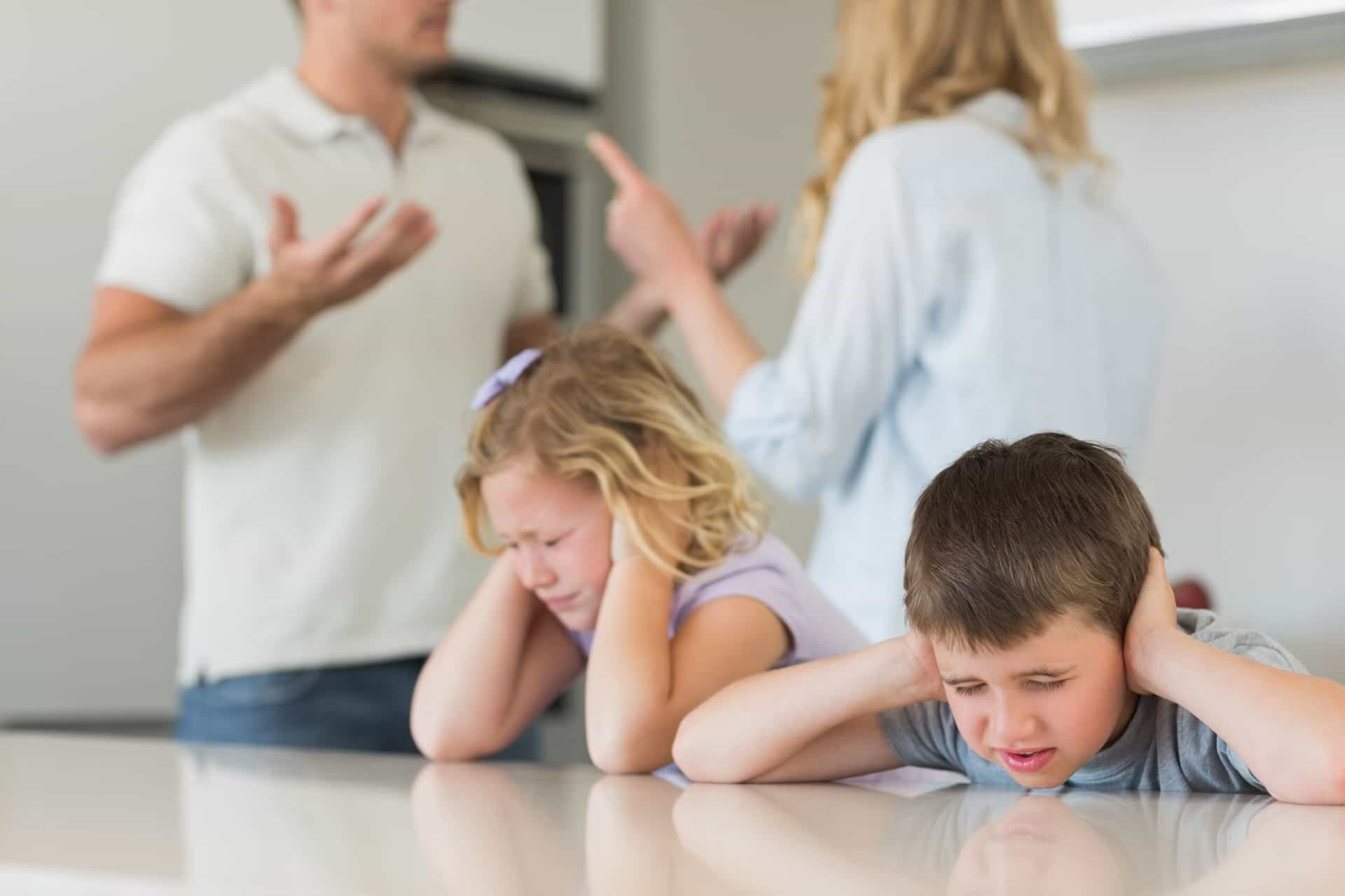 Kids stressed by divorce