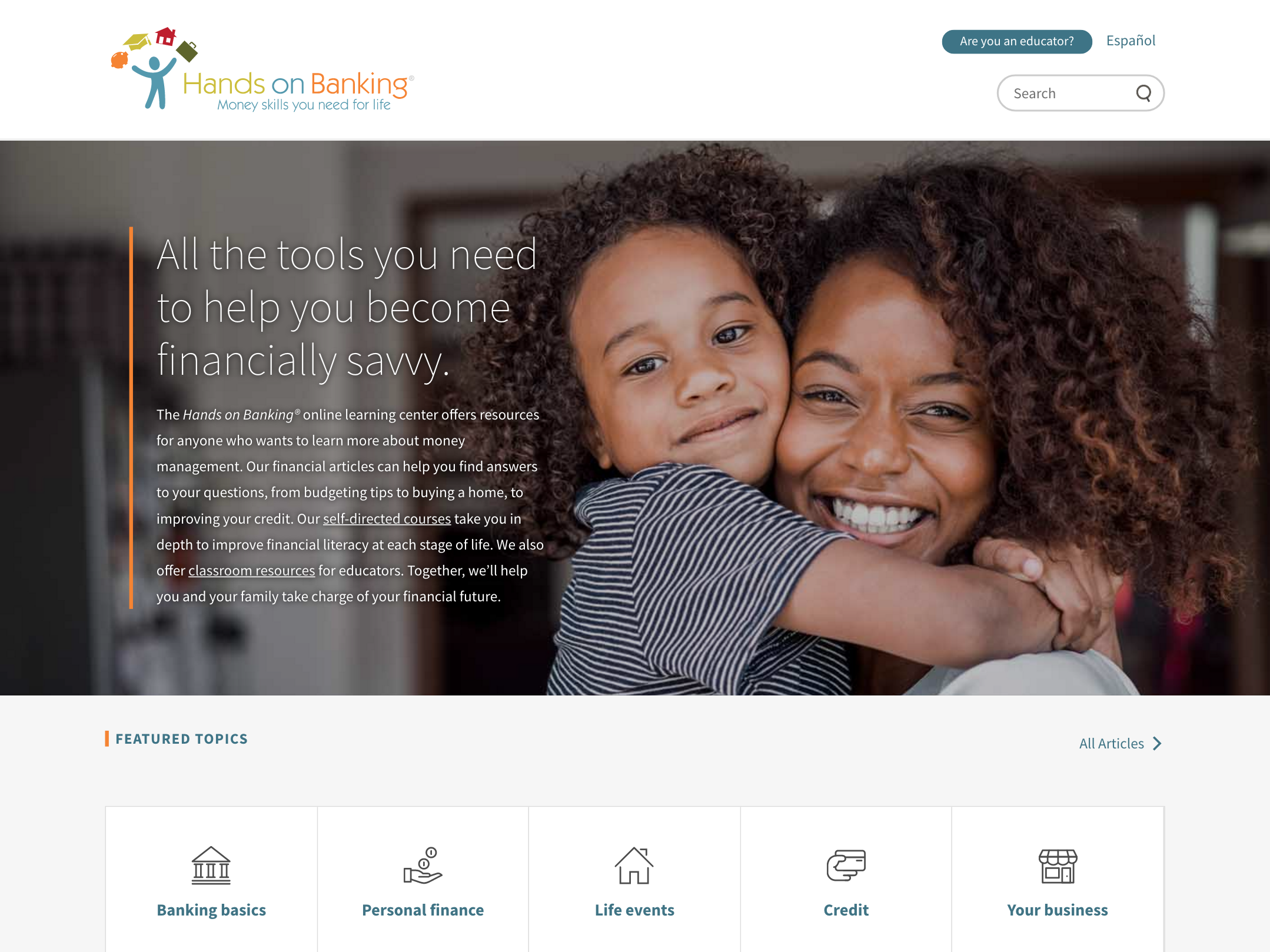 Wells Fargo - Hands on Banking home page