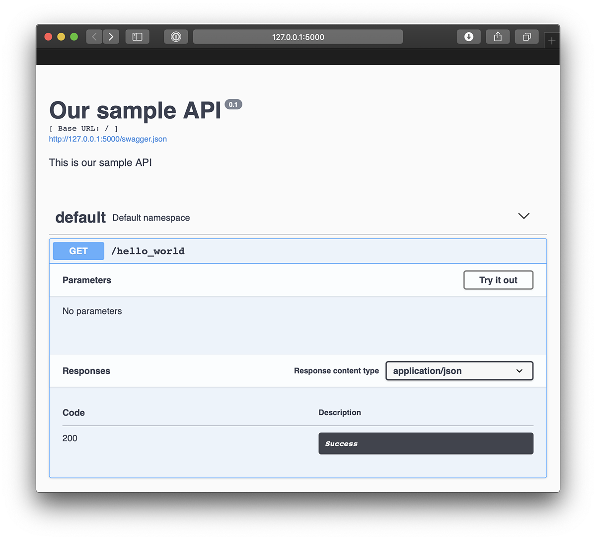 Sample API