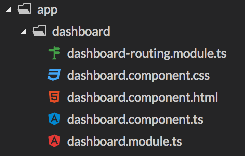Adding new Angular feature module for dashboard