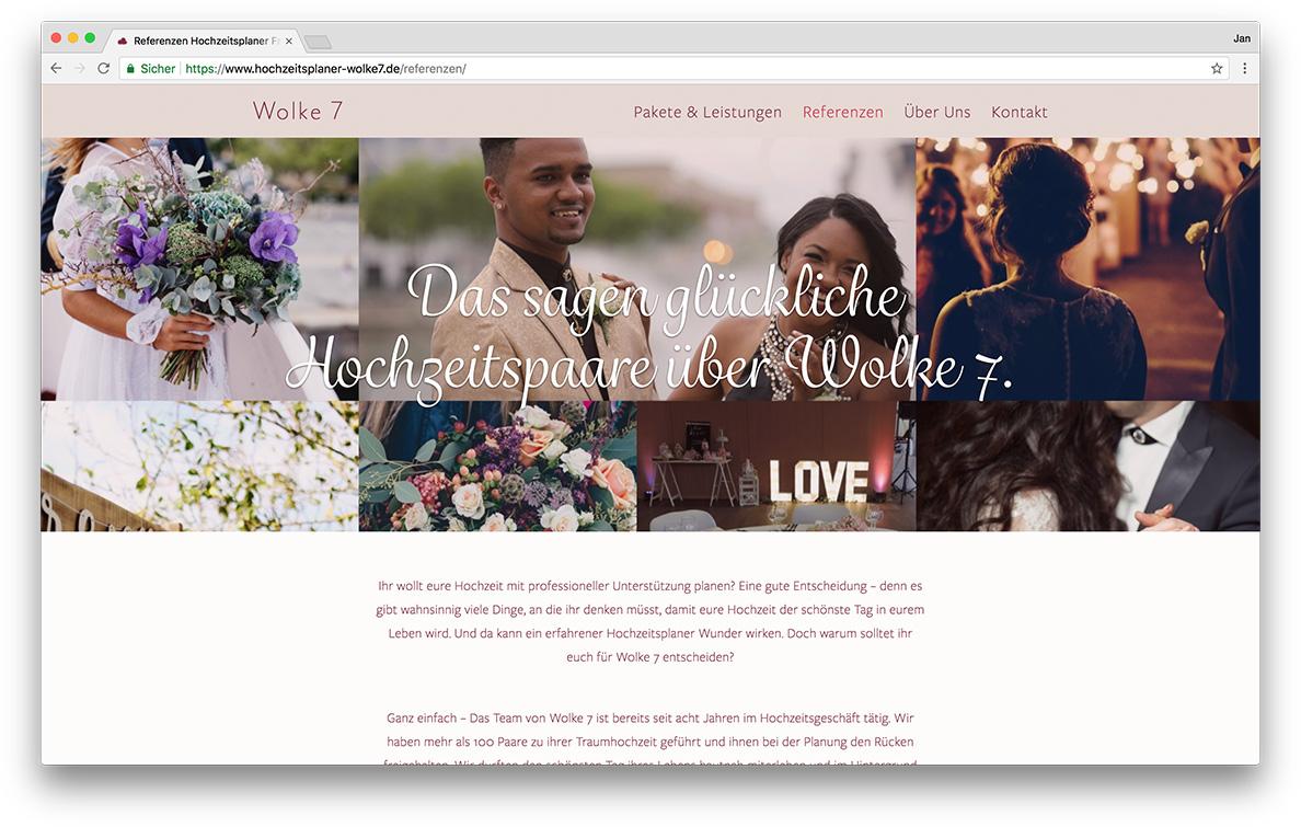 KreativBomber Onlineagentur Freiburg - Hochzeitsplaner Wolke 7 Freiburg Referenzen