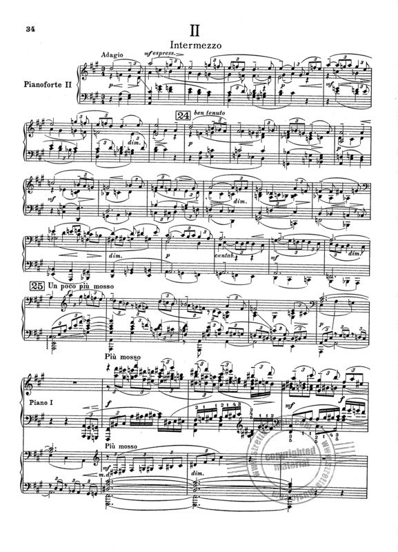 Rachmaninoff: Piano Concerto No. 3 fragment music sheet