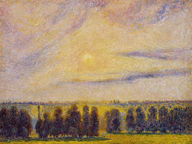 Pissarro's Sunset at Eragny