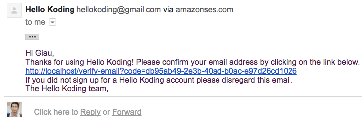 Security Email Verification
