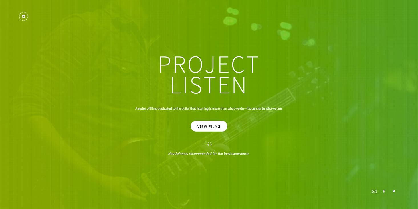 Ken Garff Project Listen Homepage