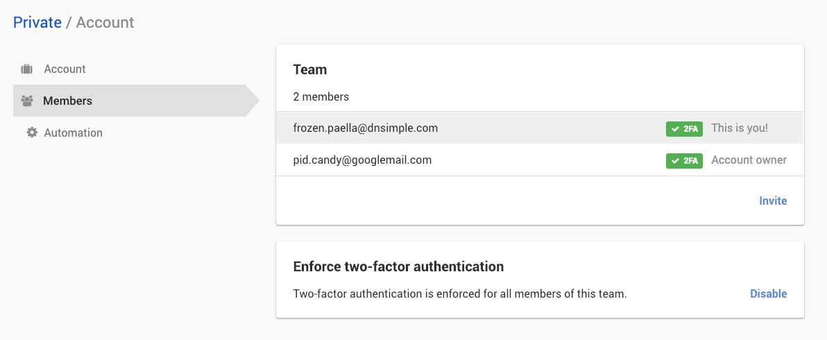 Disable Two-Factor authentication enforcement