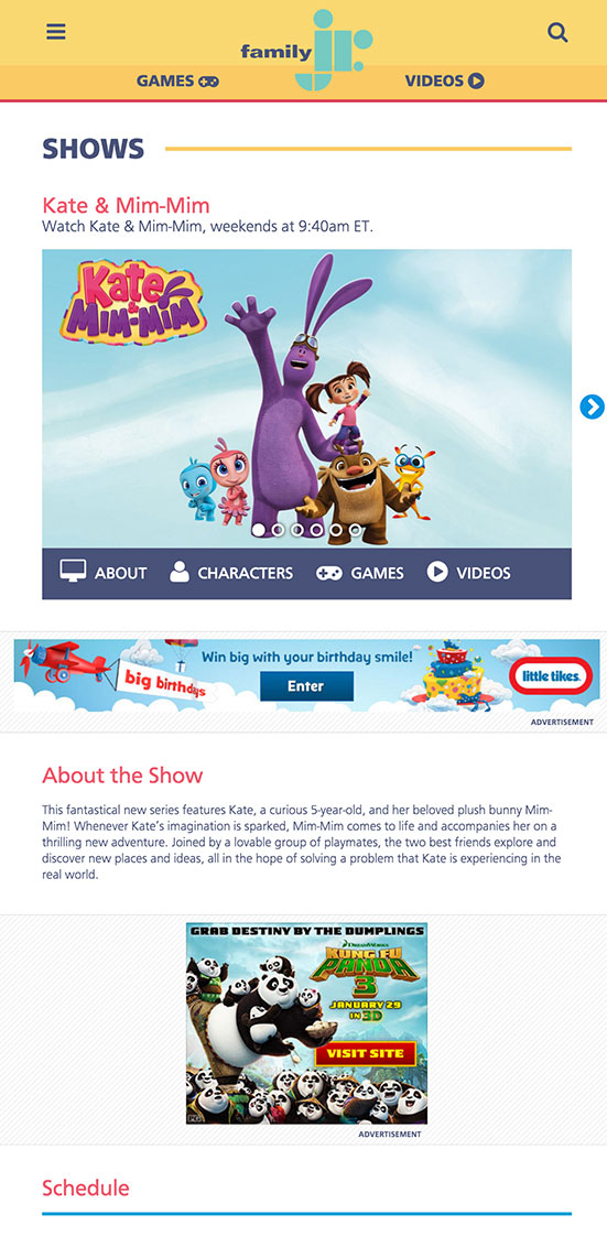 Family Show Page