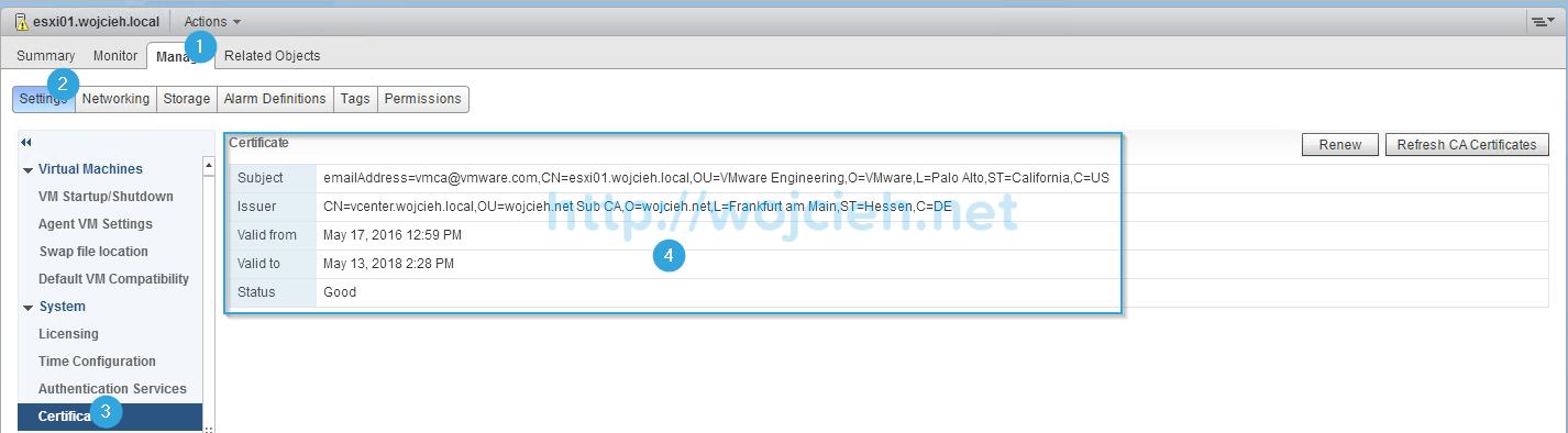 Renew ESXi SSL certificates in vSphere Web Client - 6
