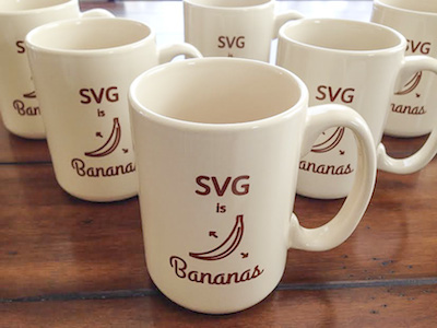 SVG is Bananas Mug