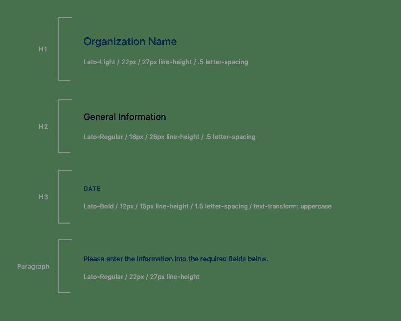 DonorMetrics Text Styles