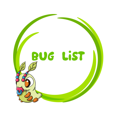Book Bugs Bug List