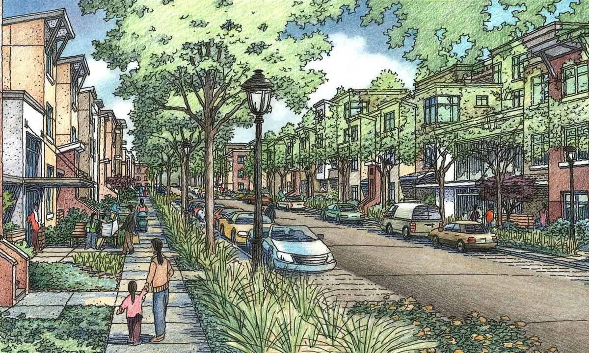 Green Street view