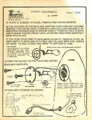 Empire Happy Snowman #1325 Instruction Manual.pdf preview