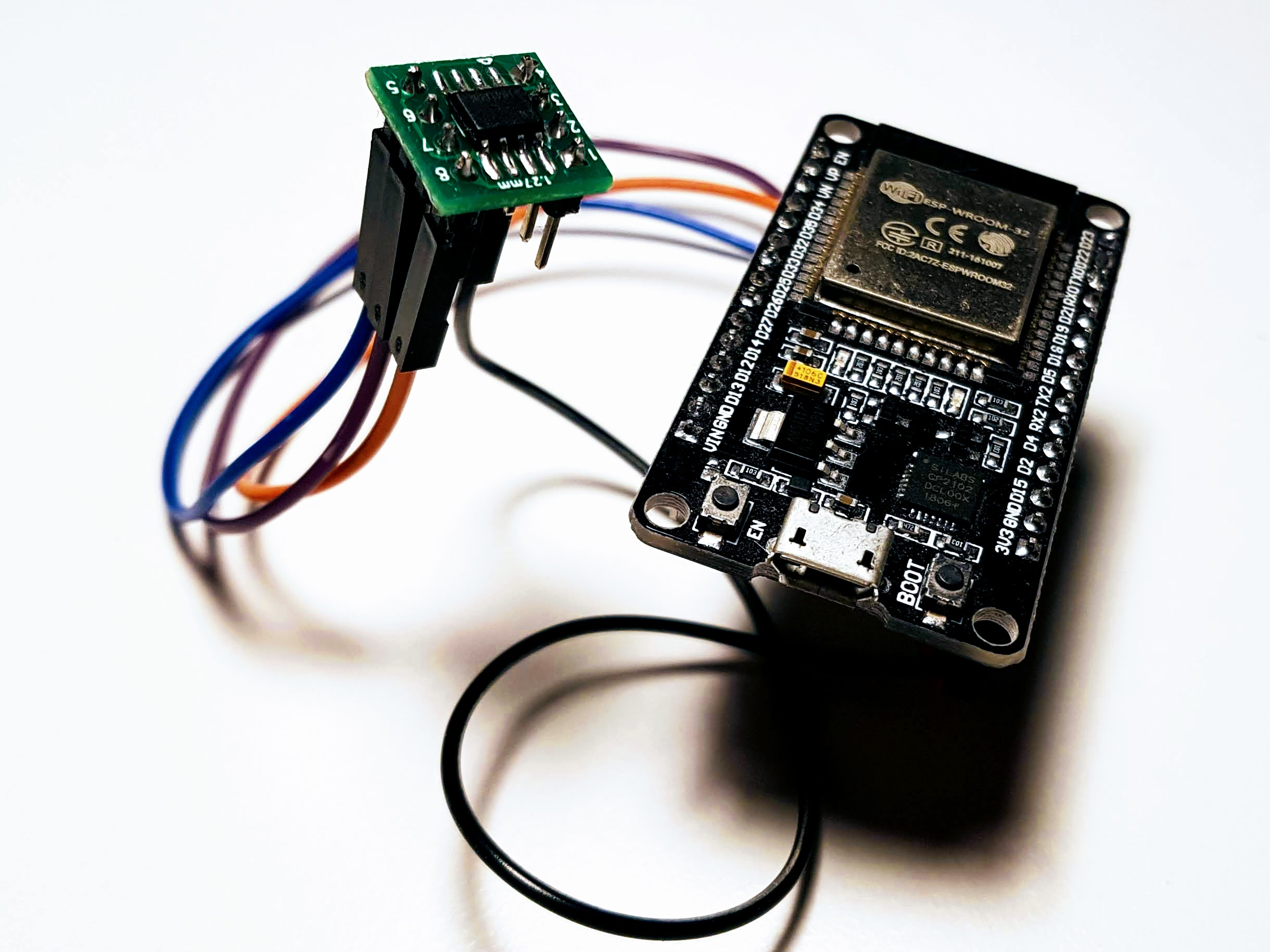 Connecting ATEC508A to the ESP32 development board