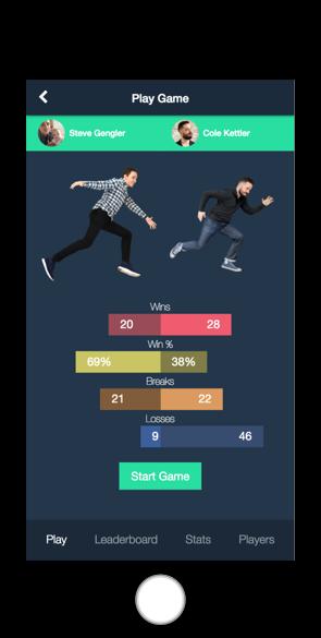 Poolytics Game screen
