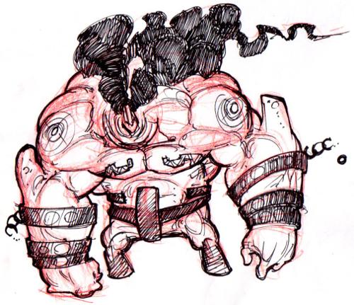 Large Warrior Sketch