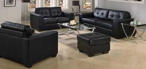 3 x 2 x 1 Lounge Suite with footstool