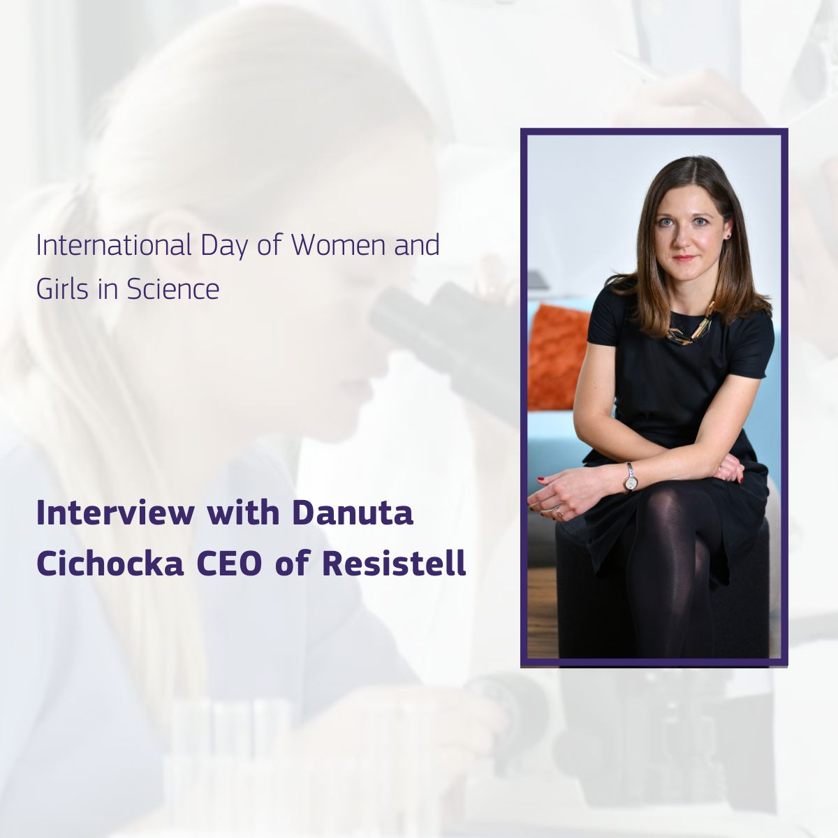 International Day of Women and Girls in Science - European Innovation Council interview with Danuta Cichocka