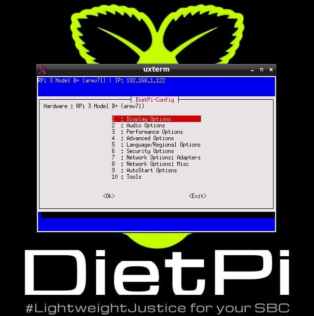 dietpi config