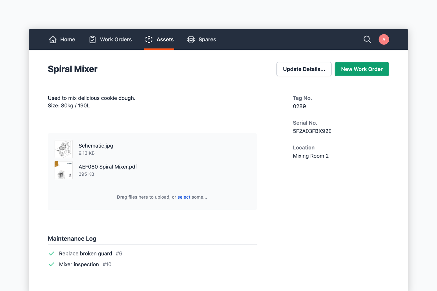 Design v3 (work order screen)