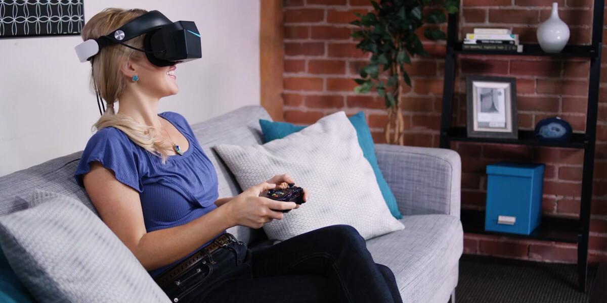 women wearing VR headset