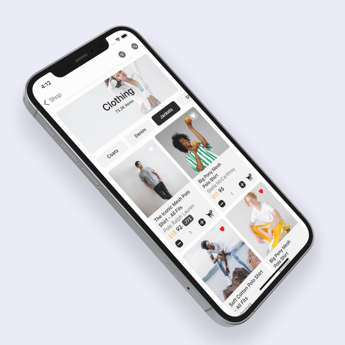 e-commerce design for ios