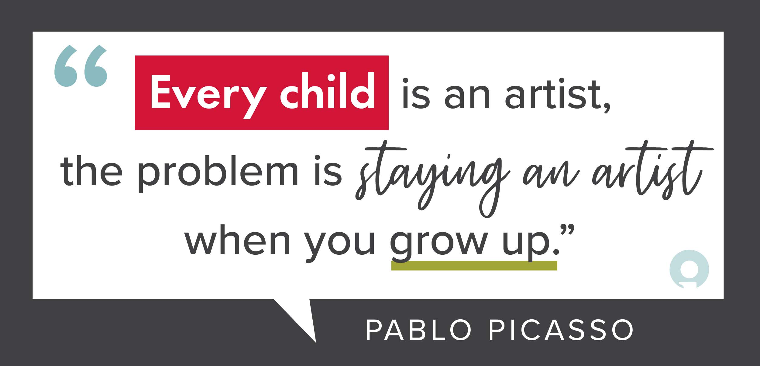 Every child is an artist Pablo Picasso Quote