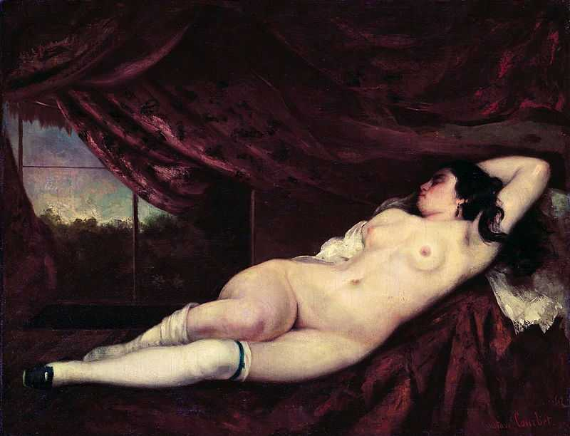 'A nude reclining woman' by Gustave Courbet, 1862, private collection