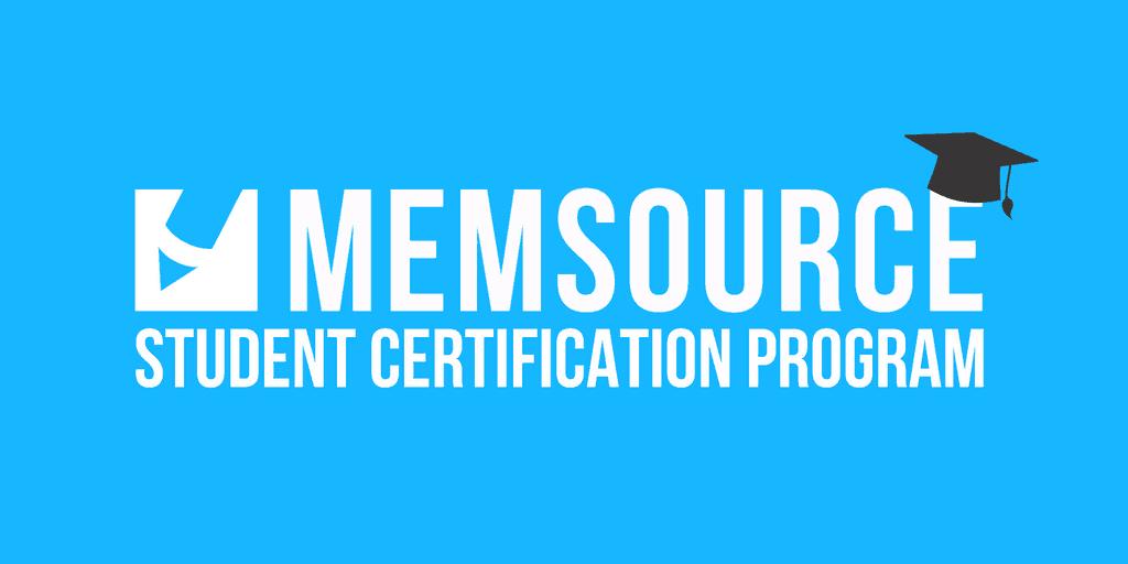 Memsource Student Certification Program