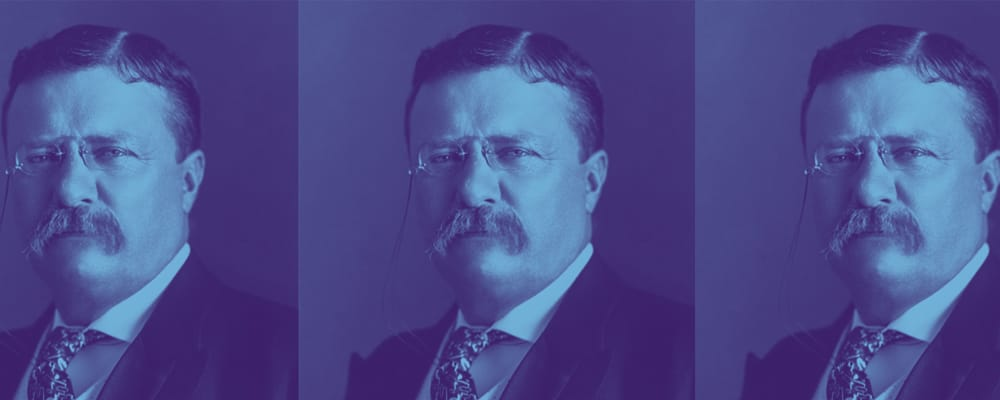 teddy roosevelt in suit and tie