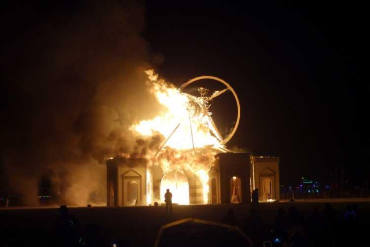 Burning Man 2016 Man Burn