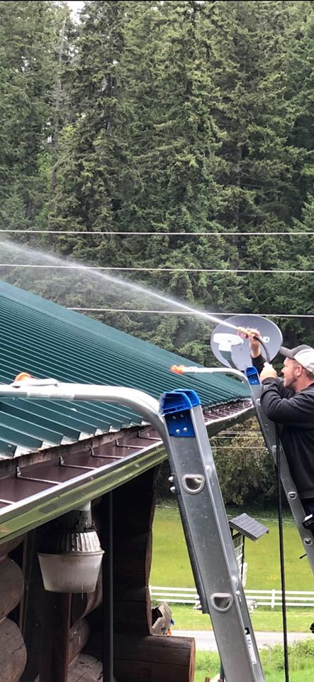 power washing a metal roof
